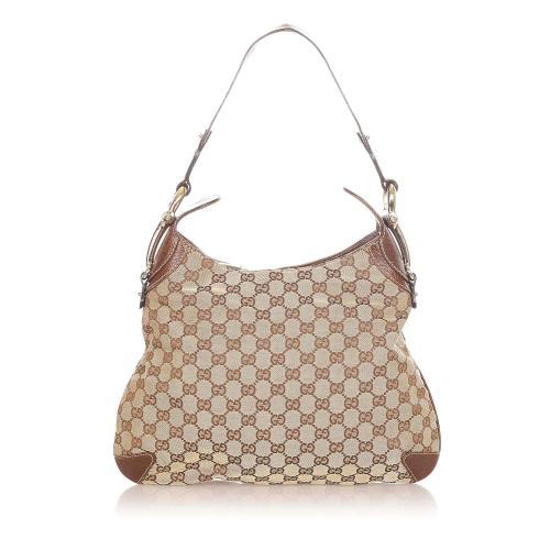 Gucci GG Canvas Horsebit Creole Hobo Bag