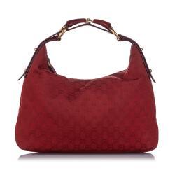 Gucci GG Canvas Horsebit Hobo Bag