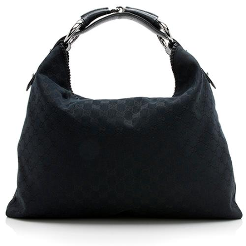 Gucci GG Canvas Horsebit Large Hobo