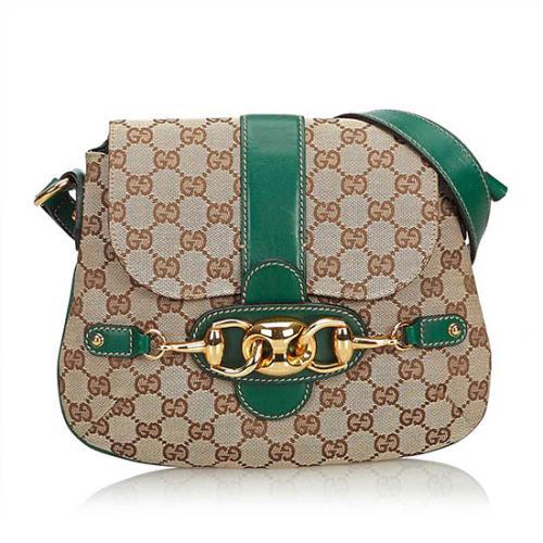 Gucci GG Canvas Horsebit Shoulder Bag