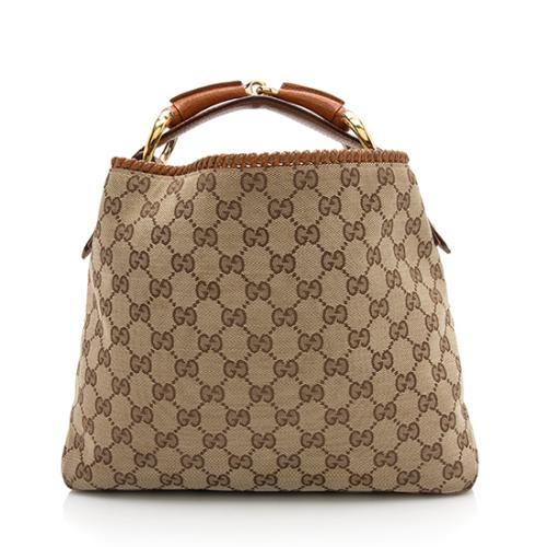 Gucci GG Canvas Horsebit Small Hobo