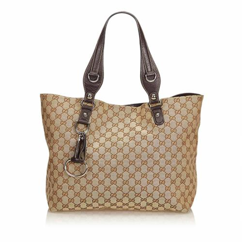 Gucci GG Canvas Icon Bit Medium Tote