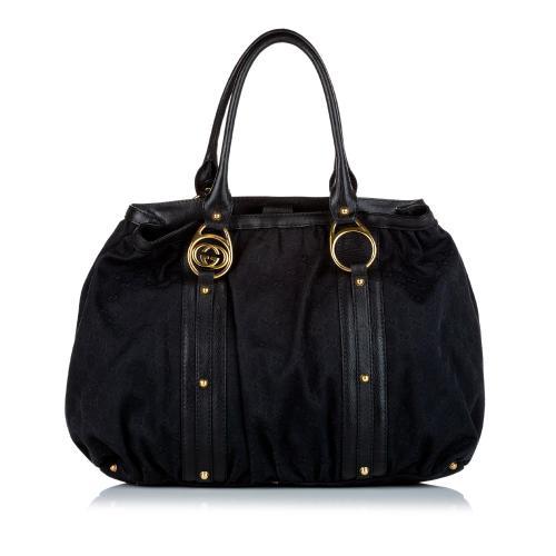 Gucci GG Canvas Interlocking G Tote Bag
