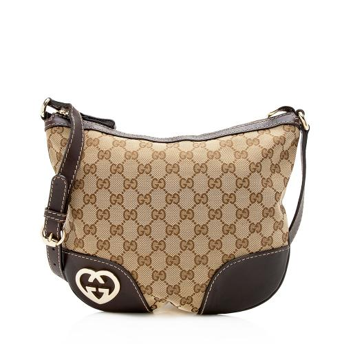 Gucci GG Canvas Interlocking Heart Crossbody Bag