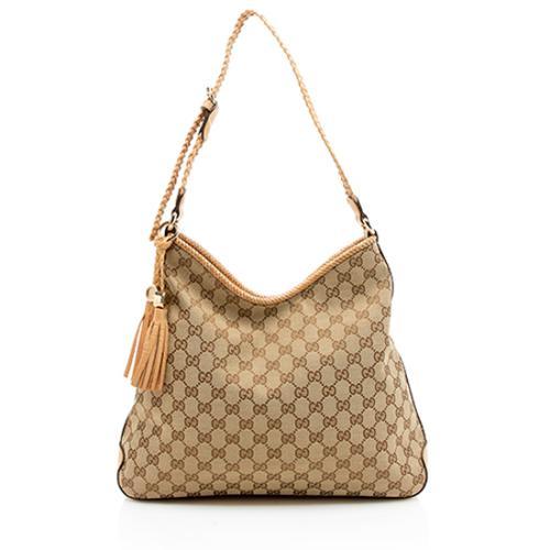 Gucci GG Canvas Leather Bella Shoulder Bag