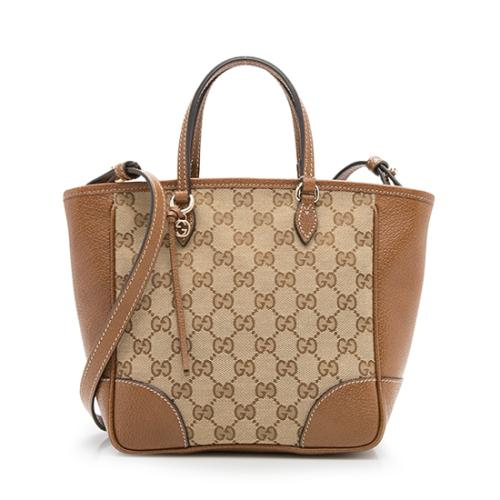 Gucci GG Canvas Leather Bree Mini Tote