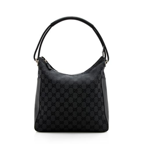 Gucci GG Canvas Leather Hobo