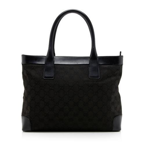 Gucci GG Canvas Leather Tote