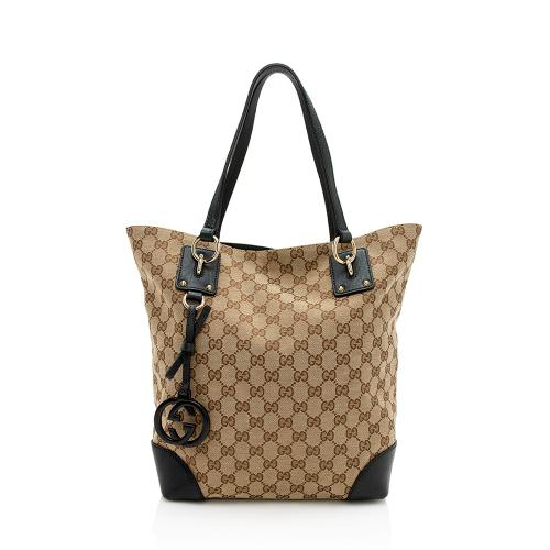 Gucci GG Canvas Medium Charm Tote