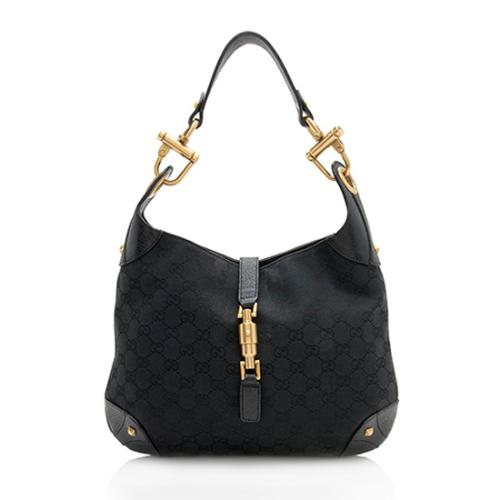 Gucci GG Canvas Nailhead Jackie Large Hobo