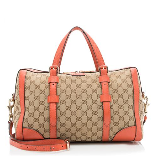 Gucci GG Canvas Original Boston Large Satchel