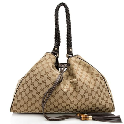 Gucci GG Canvas Peggy Shoulder Bag