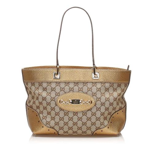 Gucci GG Canvas Punch Tote Bag