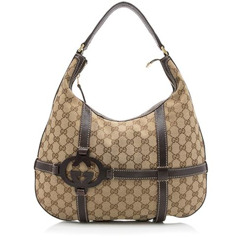 8d97d76c7d5 Gucci GG Canvas Royal Hobo