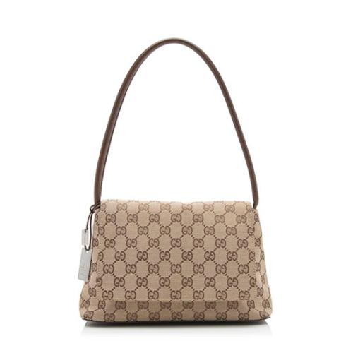 Gucci GG Canvas Small Flap Bag w/ Pouch