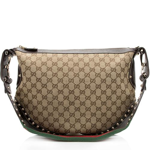 Gucci GG Canvas Studded Pelham Medium Messenger Bag