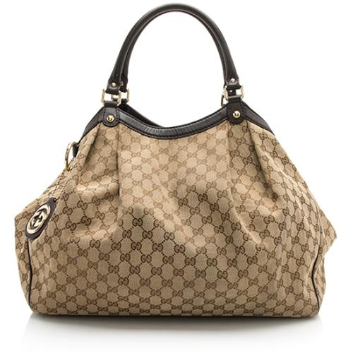 Gucci GG Canvas Sukey Large Tote