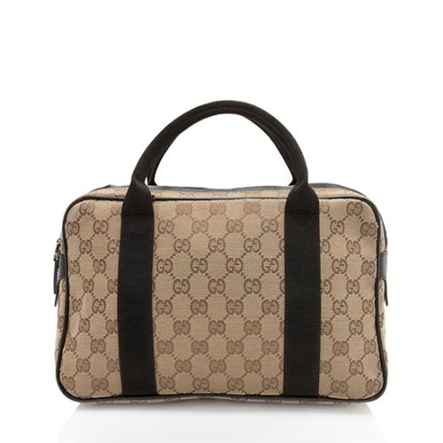 Gucci GG Canvas Travel Small Satchel