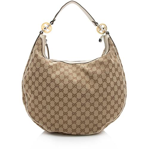 Gucci GG Canvas Twins Large Hobo