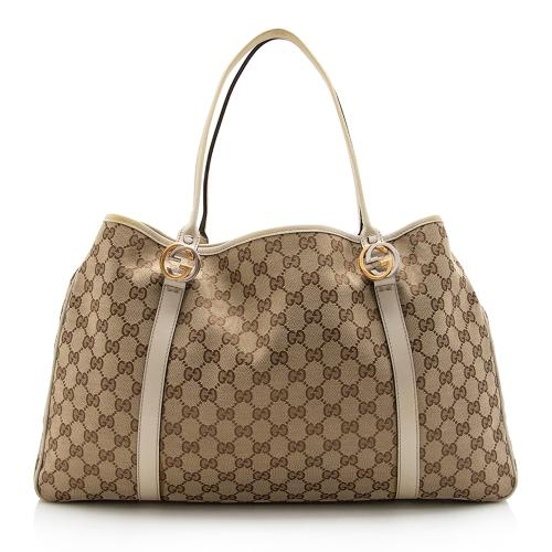 Gucci GG Canvas Twins Large Tote