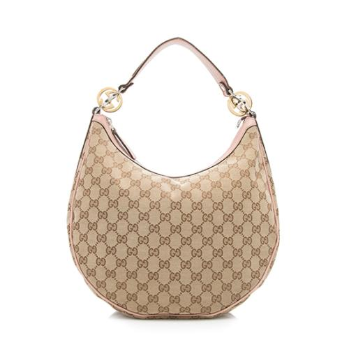 Gucci GG Canvas Twins Medium Hobo