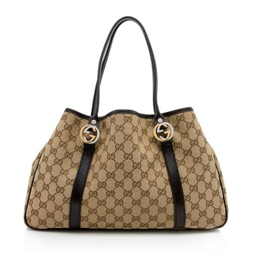 Gucci GG Canvas Twins Medium Tote