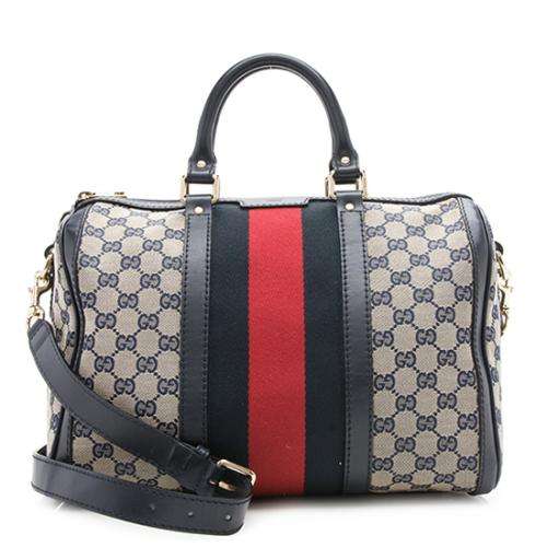 1ad5fd0e1c3 Gucci-GG-Canvas-Vintage-Web-Medium-Boston-Bag 98011 front large 0.jpg