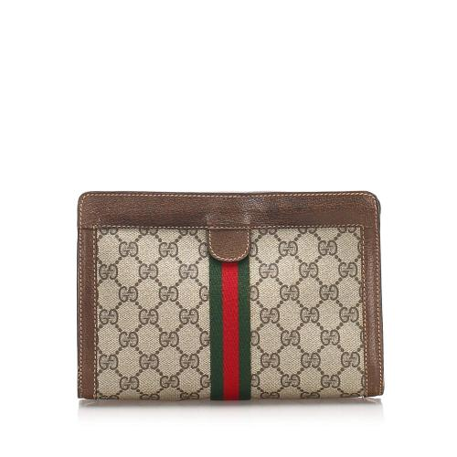 Gucci GG Canvas Web Clutch