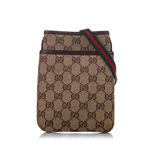 Gucci GG Canvas Web Crossbody Bag