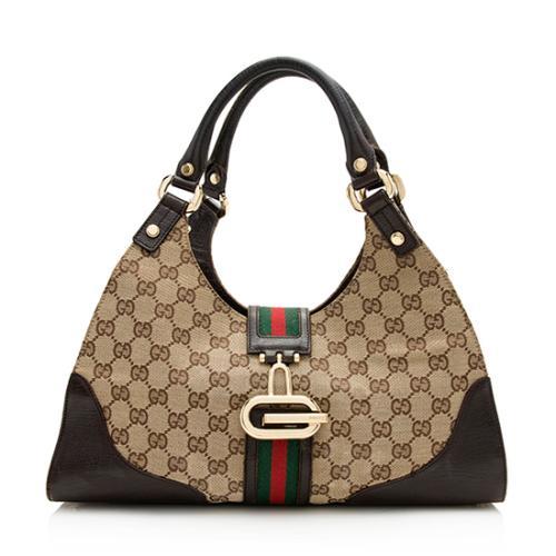Gucci GG Canvas Web Junco Tote