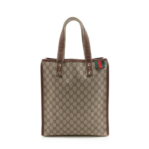 Gucci GG Canvas Web Loop N/S Shopping Tote