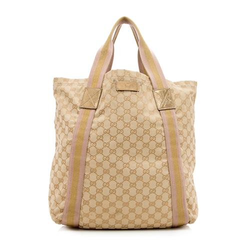 Gucci GG Canvas Web Original Tote