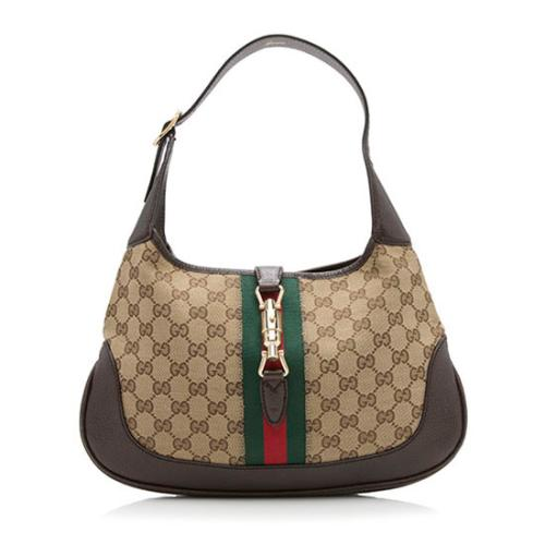 Gucci GG Canvas Web Small Jackie Shoulder Bag