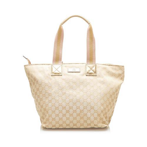 Gucci GG Canvas Web Tote Bag