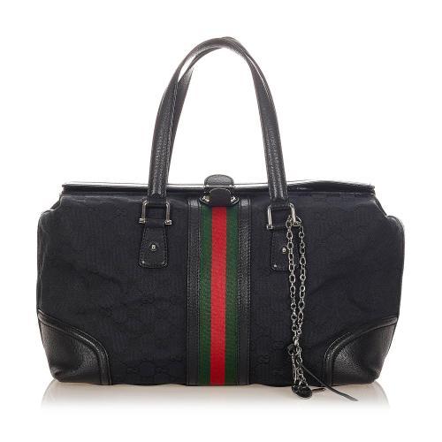 Gucci GG Canvas Web Treasure Handbag