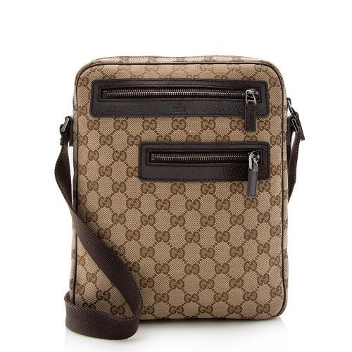 Gucci GG Canvas Zip Pocket Messenger Bag