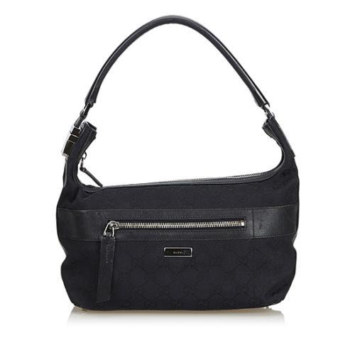 Gucci GG Canvas Zip Shoulder Bag