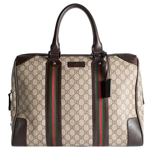 Gucci GG Coated Canvas Business Travel Tote