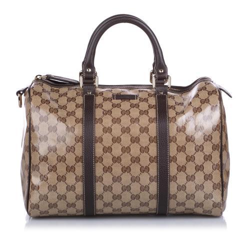 Gucci GG Crystal Boston Bag