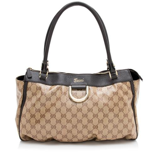 Gucci GG Crystal D-Gold Tote