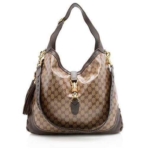 Gucci GG Crystal New Jackie Large Shoulder Bag