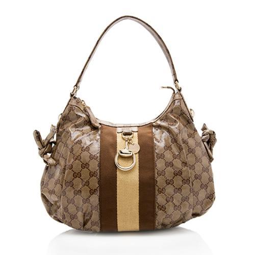 Gucci GG Crystal Web Stripe Small Shoulder Bag