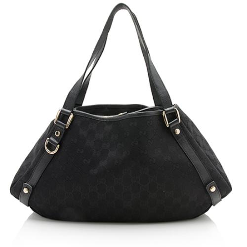 Gucci GG Denim Abbey Medium Shoulder Bag