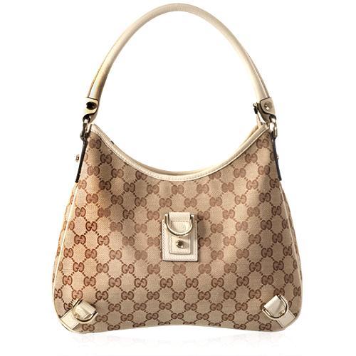 Gucci GG Fabric Abbey Medium Hobo Handbag