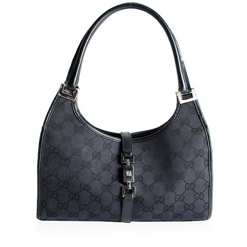 Gucci GG Fabric Bardot Bouvier Handbag