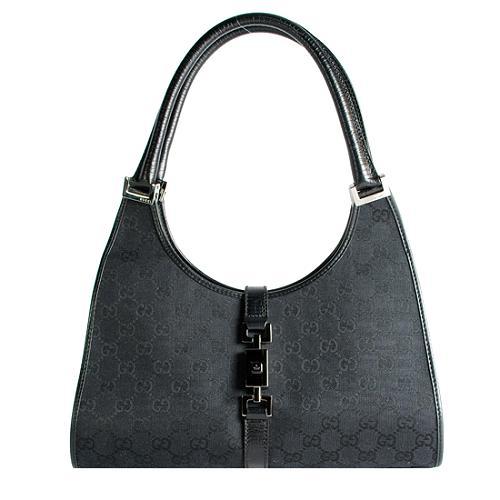 Gucci GG Fabric Bardot Bouvier Shoulder Handbag