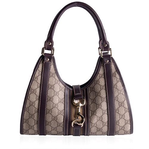 Gucci GG Fabric Bardot Handbag