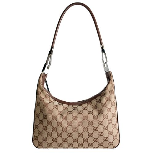 Gucci GG Fabric Binoche Medium Shoulder Handbag