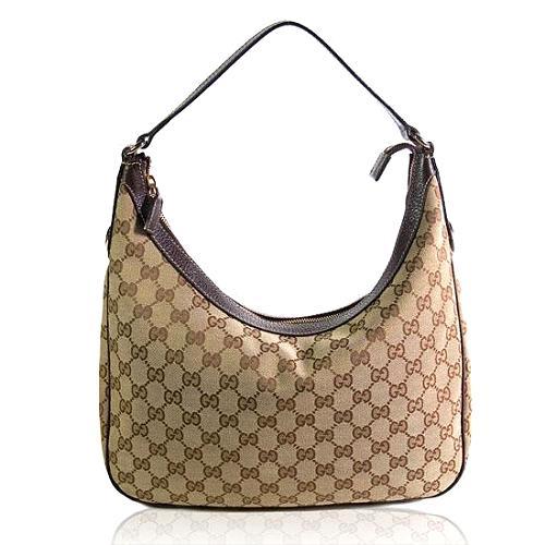 Gucci GG Fabric Charmy Medium Hobo Handbag