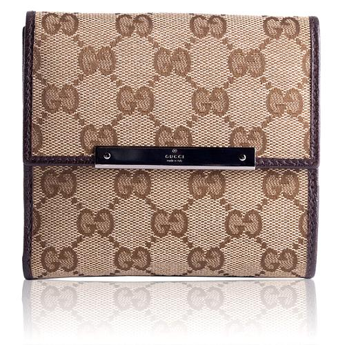 Gucci GG Fabric French Wallet